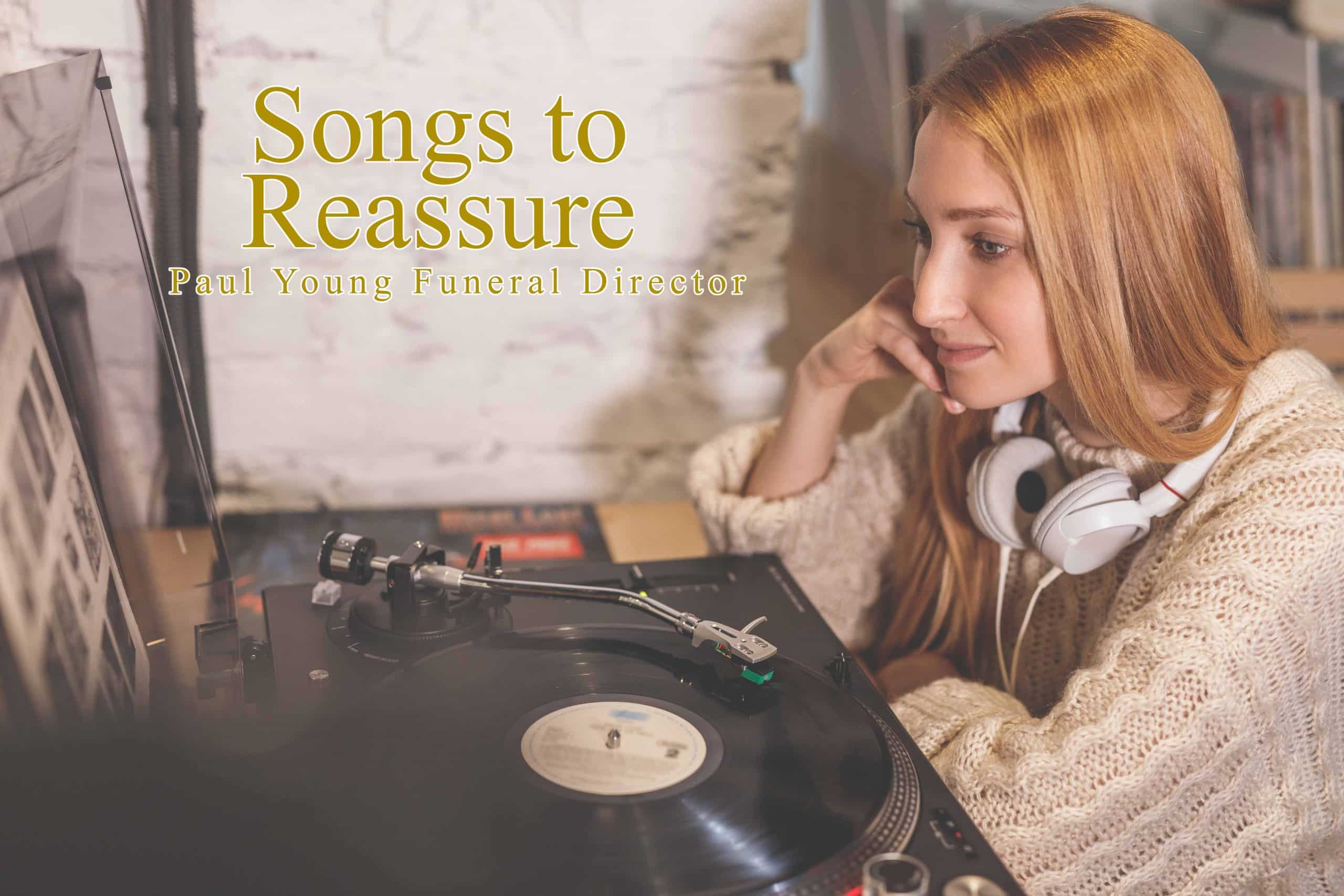 What are the Best Funeral Songs to go out to? Young girl listening to a gramophone record