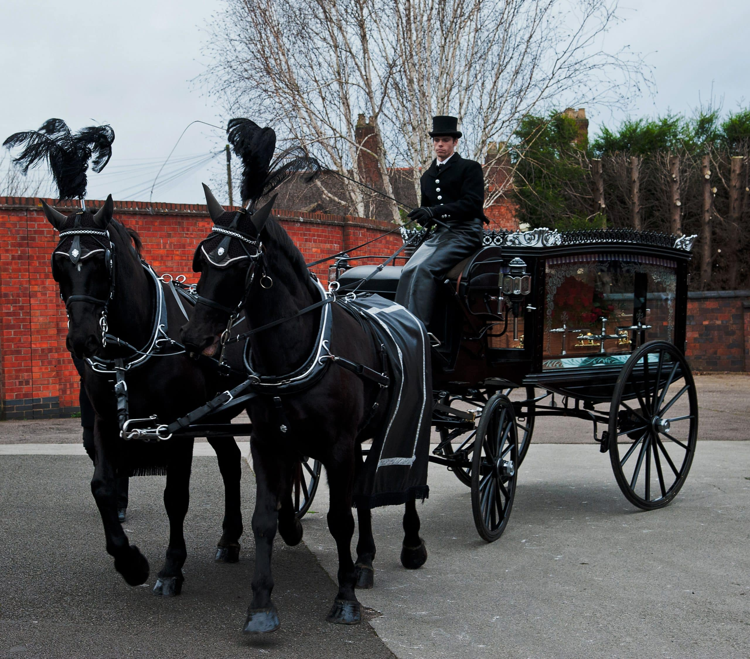 The Best Alternative Hearses, the horse-driven hearse, such as A Guide to Non-Religious Funerals